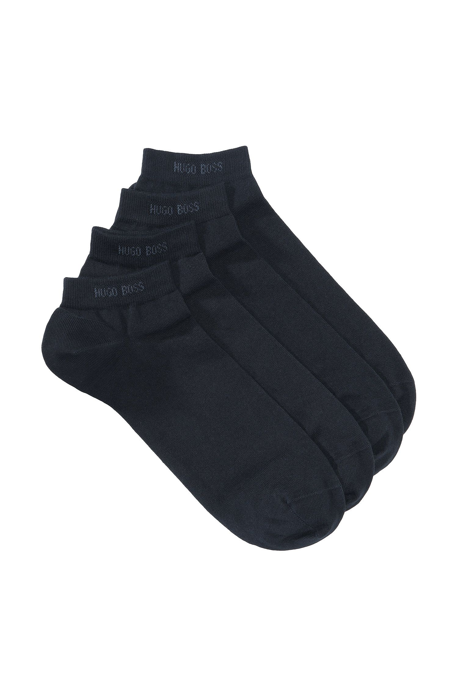 Two-pack of ankle socks in cotton blend, Dark Blue