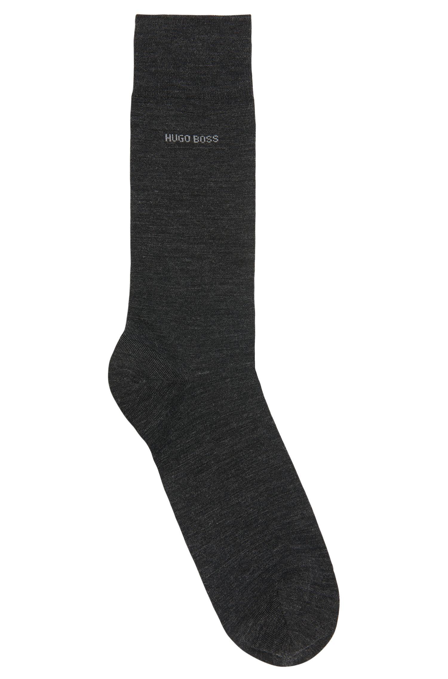 Merino wool and cotton blend socks