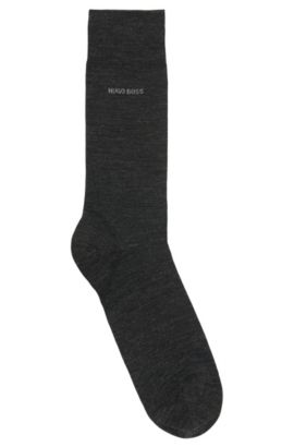 Merino wool and cotton blend socks, Anthracite