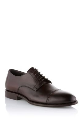 Lace-up leather shoes 'Stokko', Dark Brown