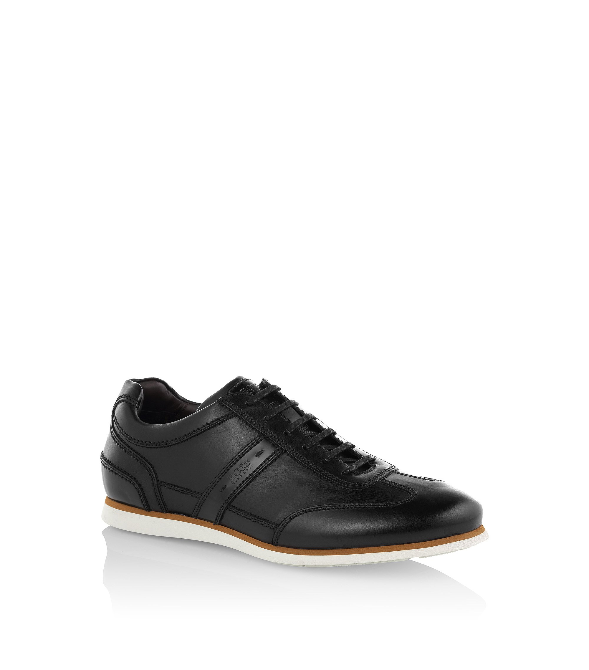 Baskets «T-Leisander» en cuir, Noir