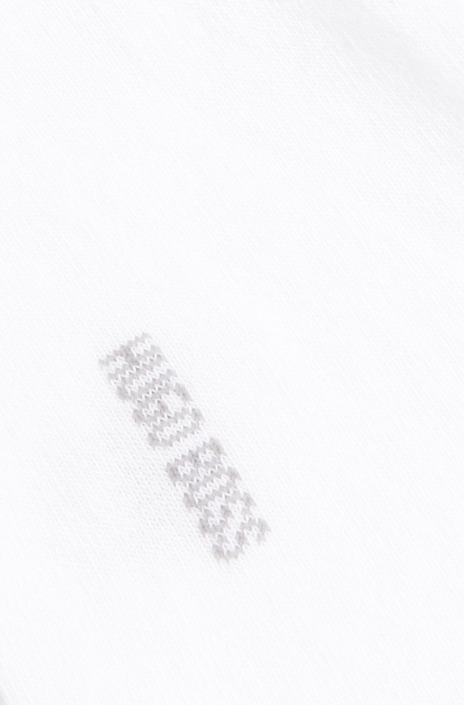 Socquettes avec zones de frottement renforcées, Blanc