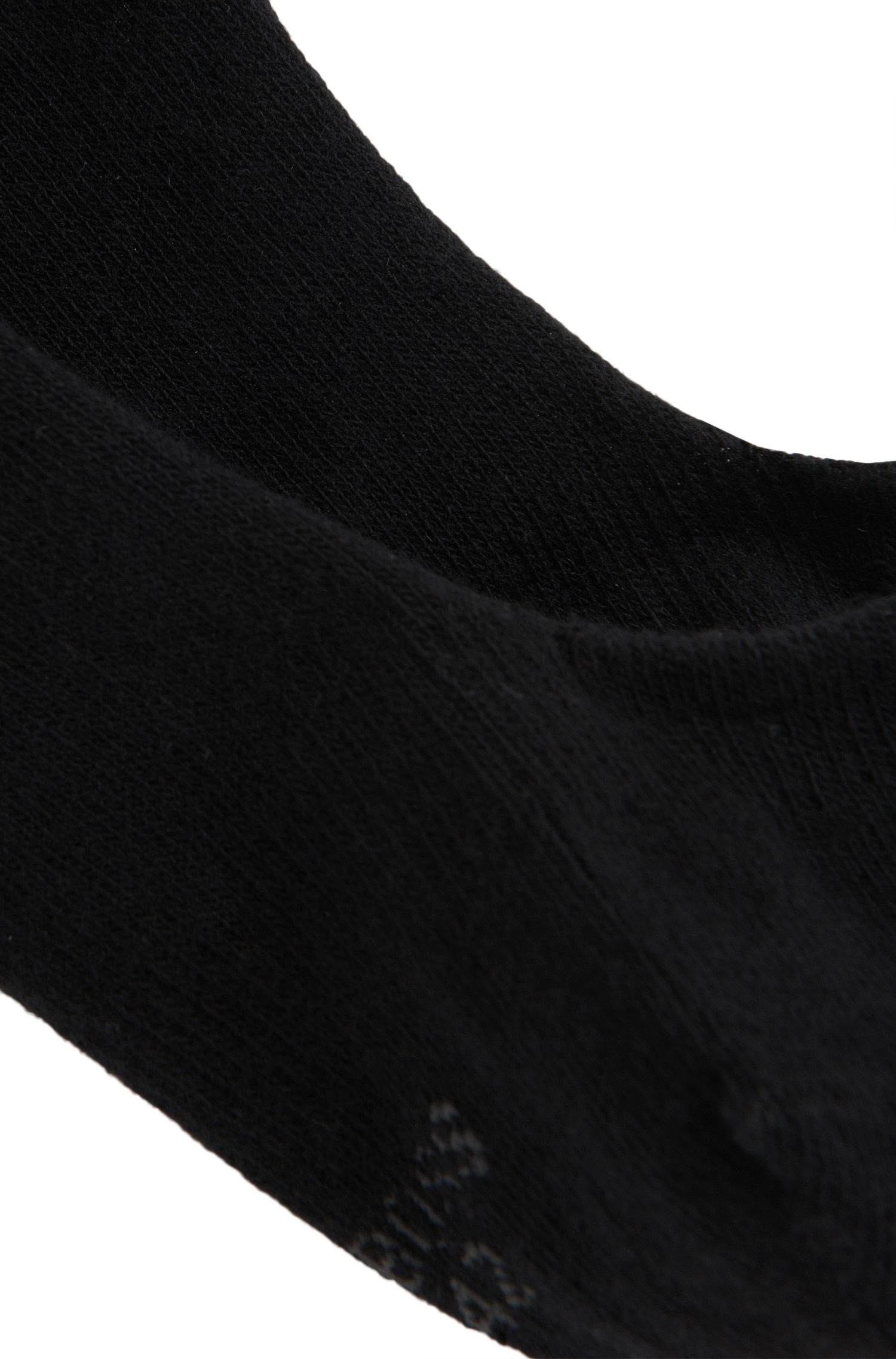 Invisible socks with silicone heel protection , Black