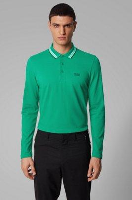 Polo regular fit en piqué de algodón, Verde