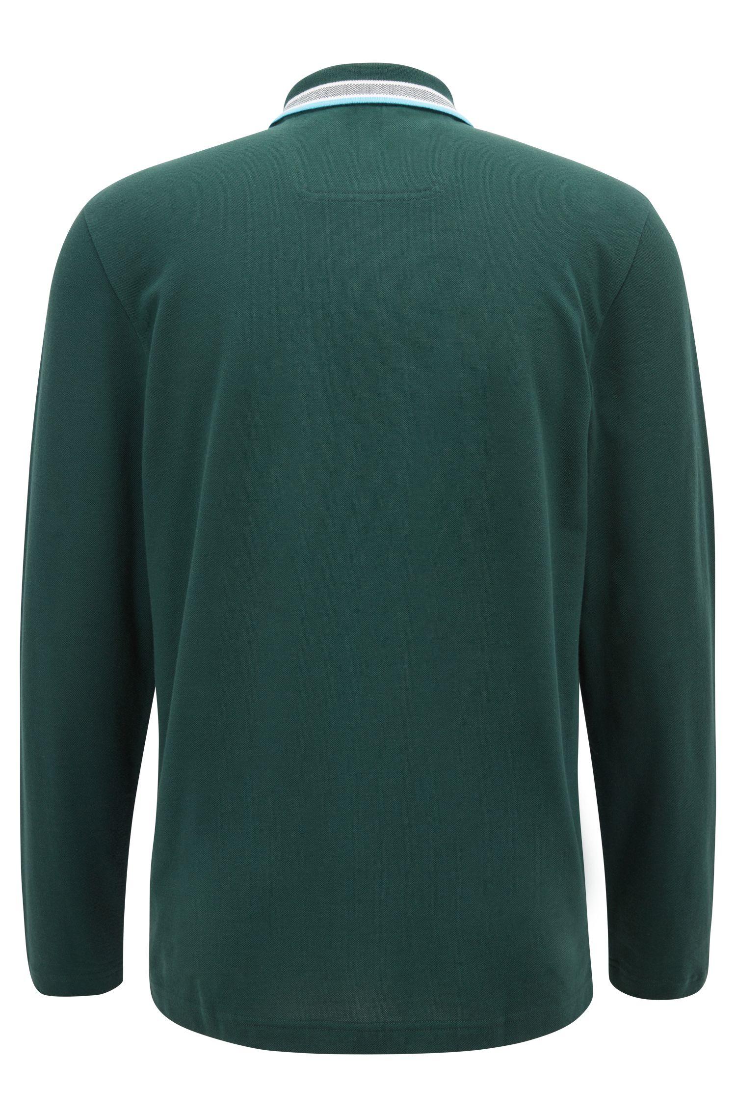 Regular-Fit Poloshirt aus Baumwoll-Piqué, Dunkelgrün