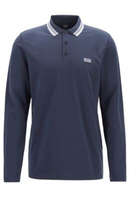 487fcbd0 HUGO BOSS | Polo Shirts for Men | Regular Fit & Slim Fit Polos