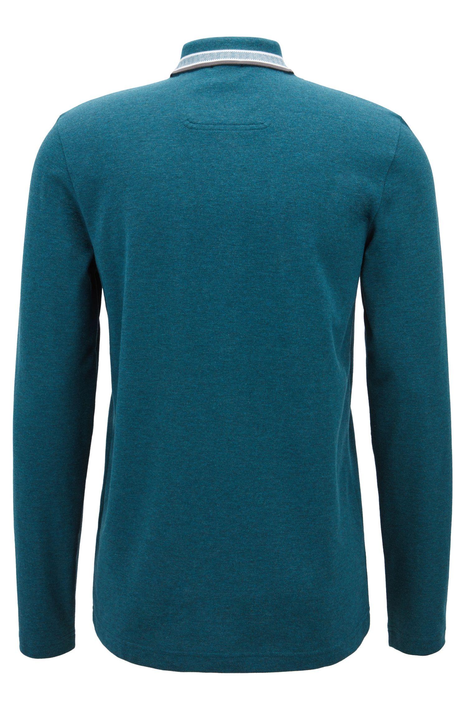 Regular-Fit Poloshirt aus Baumwoll-Piqué, Dunkelblau