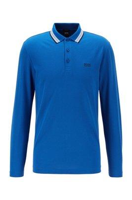 Polo Regular Fit en piqué de coton, bleu clair