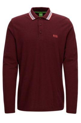 Regular-Fit Poloshirt aus Baumwoll-Piqué, Rot