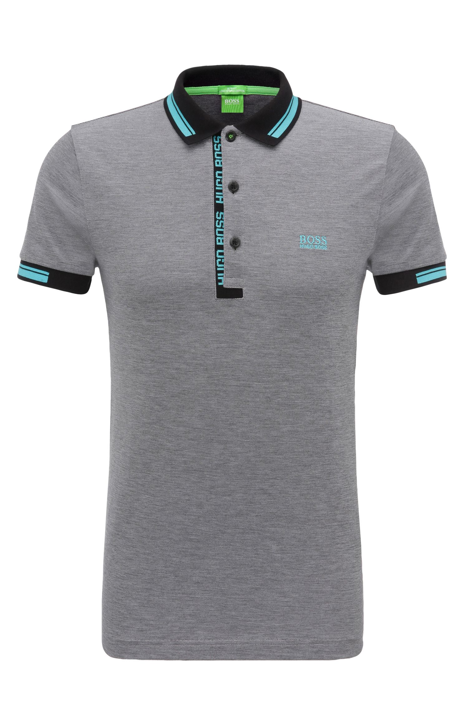 Slim-fit poloshirt in katoenpiqué