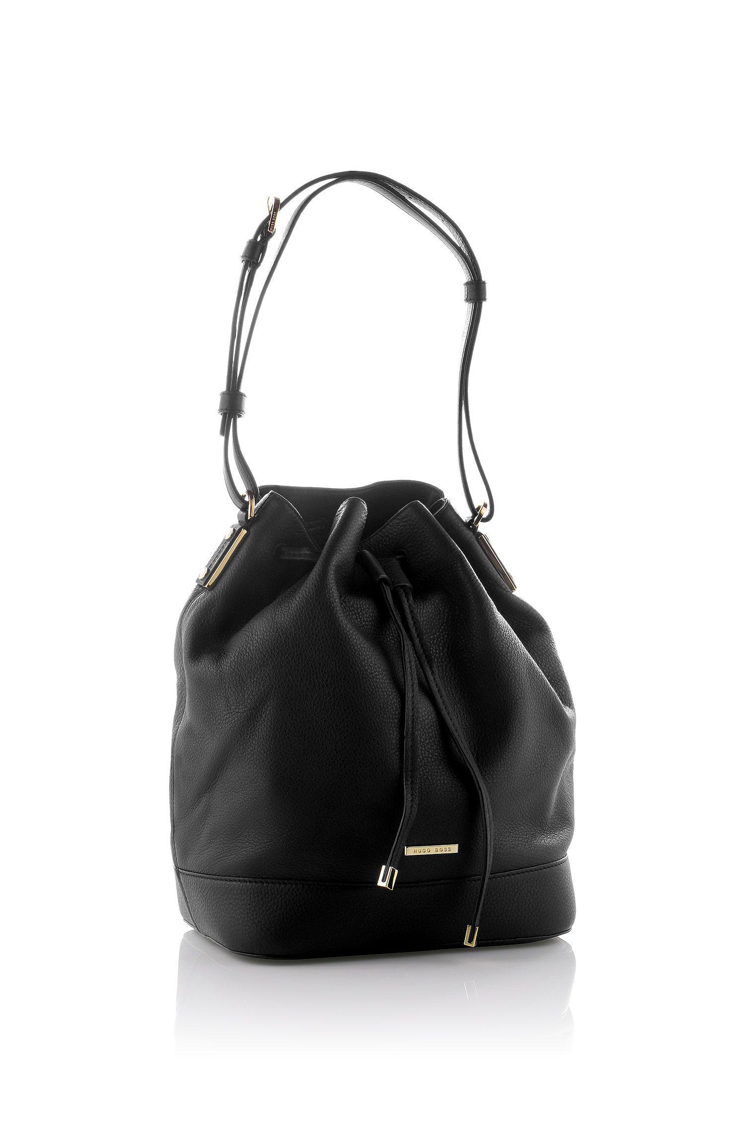 Drawstring bag 'Malinda-G' in leather