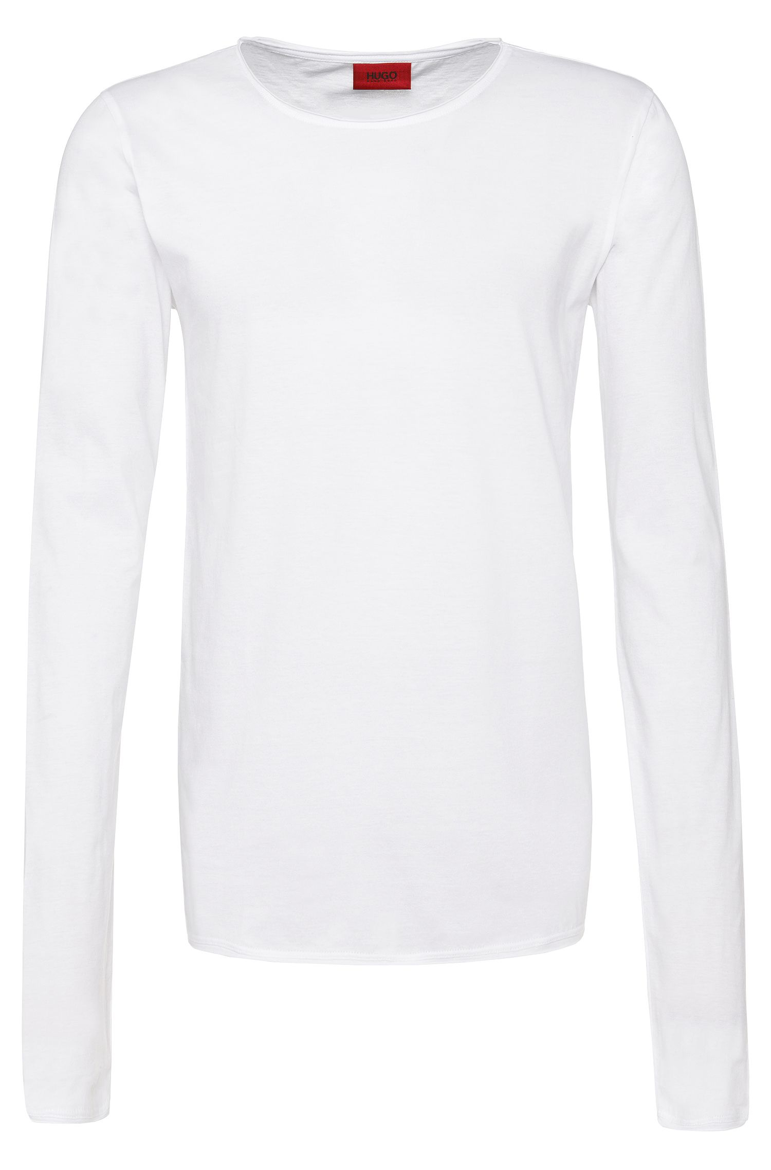 Relaxed-fit long-sleeved shirt in cotton: 'Doops'
