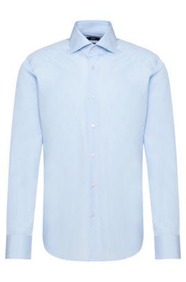 Chemise Regular Fit unie en coton: «Gerald», Bleu vif