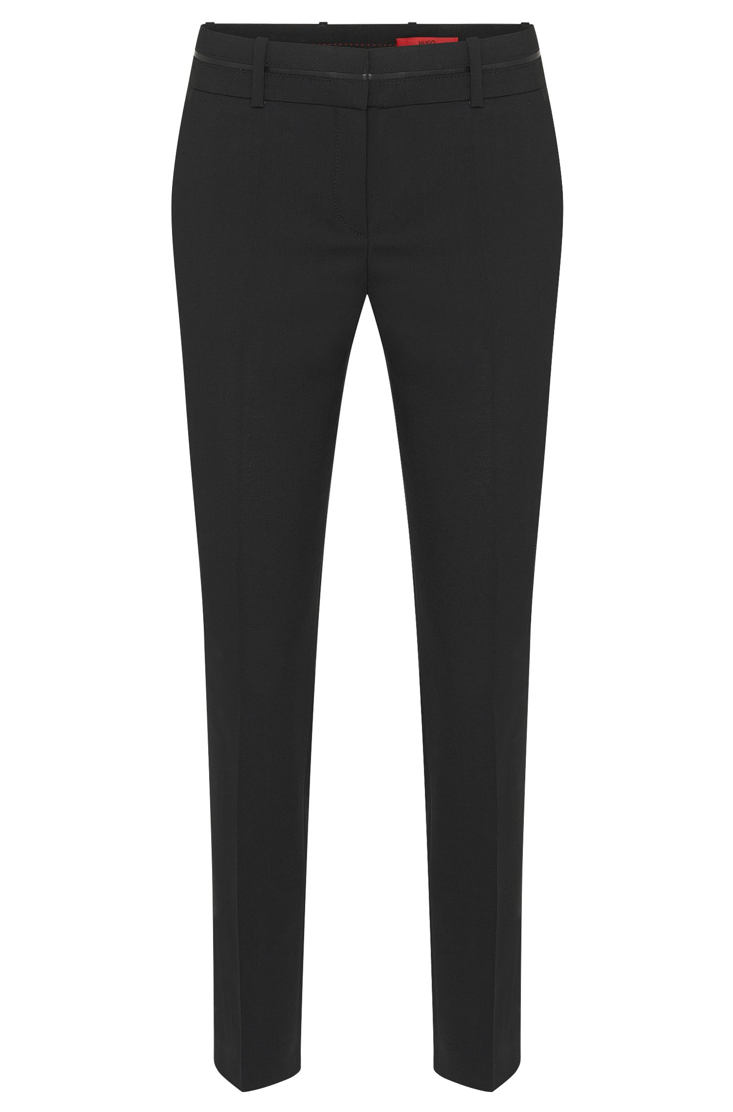 Pantaloni slim fit con vita a filetto