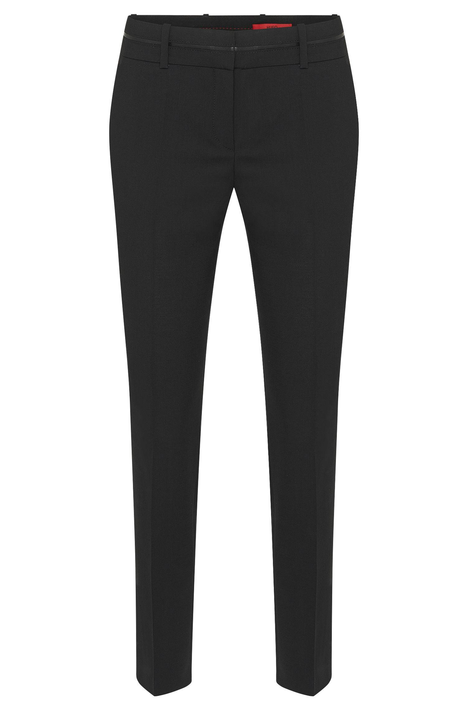 Pantalon HUGO Femme Slim Fit présentant une taille passepoilée