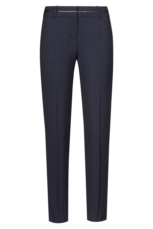 Hugo Boss - Slim-fit trousers with piped waistband - 1