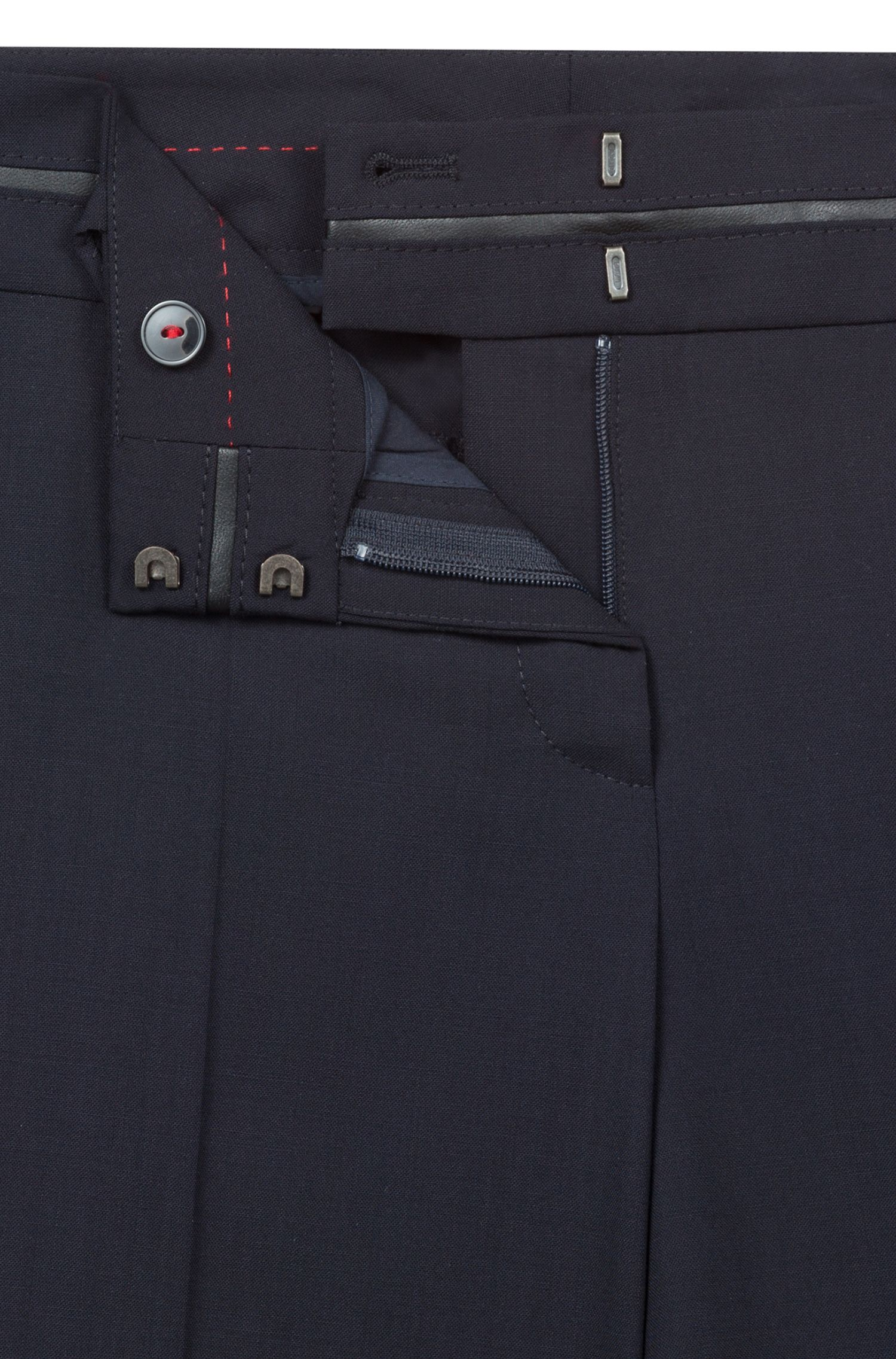 Slim-fit trousers with piped waistband , Dark Blue