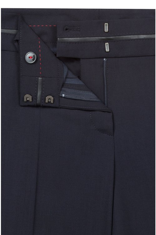 Hugo Boss - Slim-fit trousers with piped waistband - 5