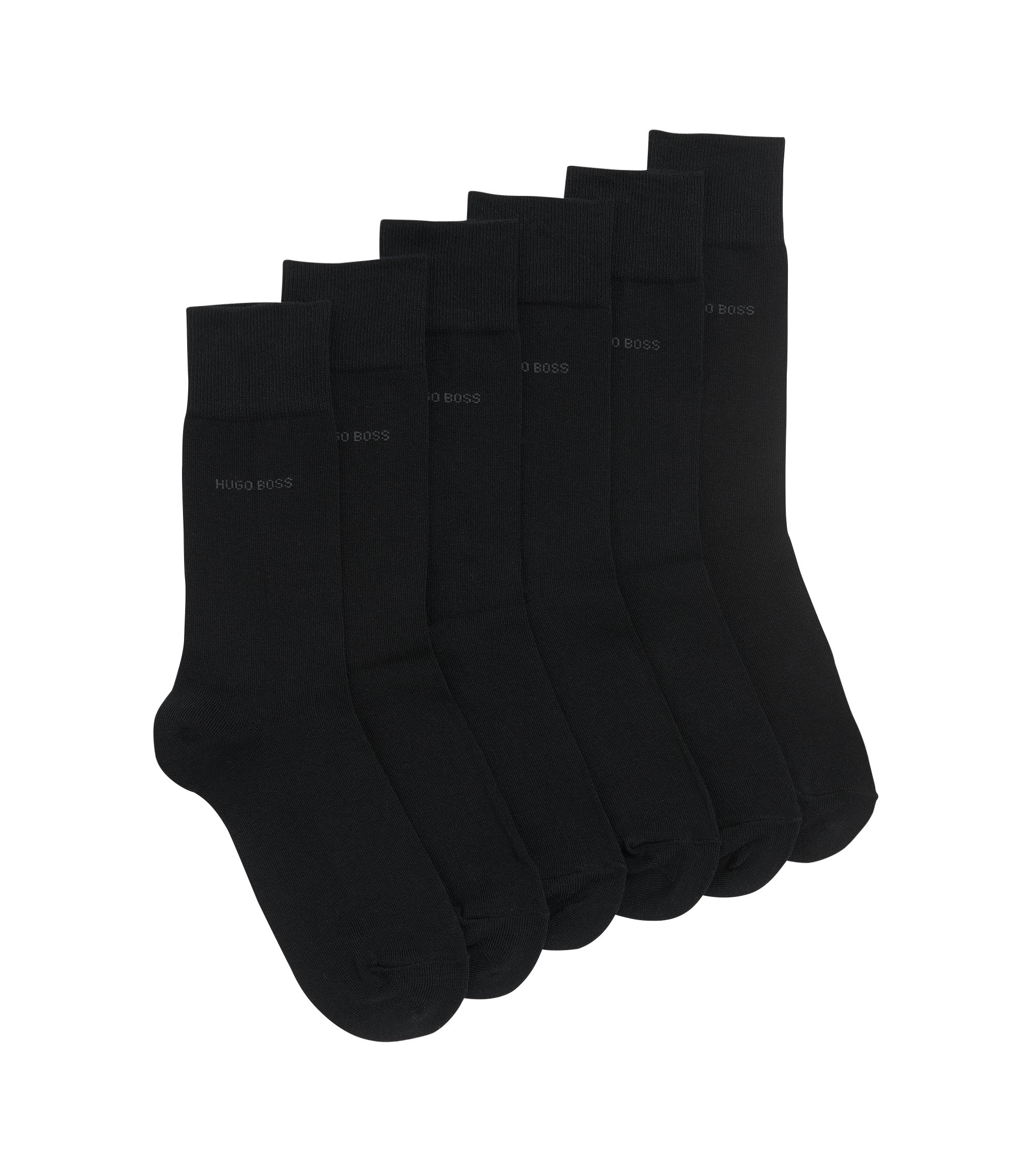 Three-pack of regular-length socks, Black