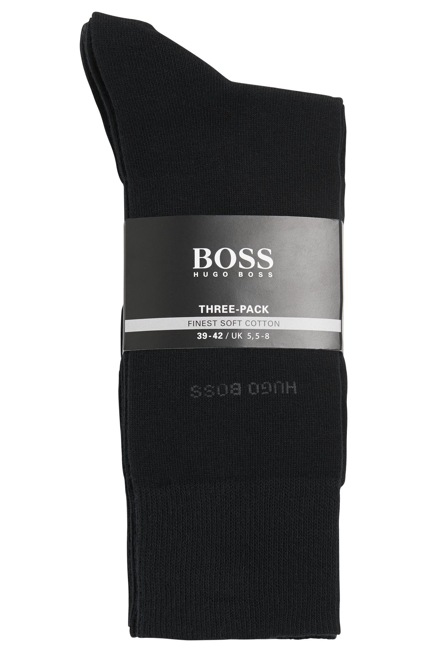 Paquete de tres pares de calcetines de largo normal