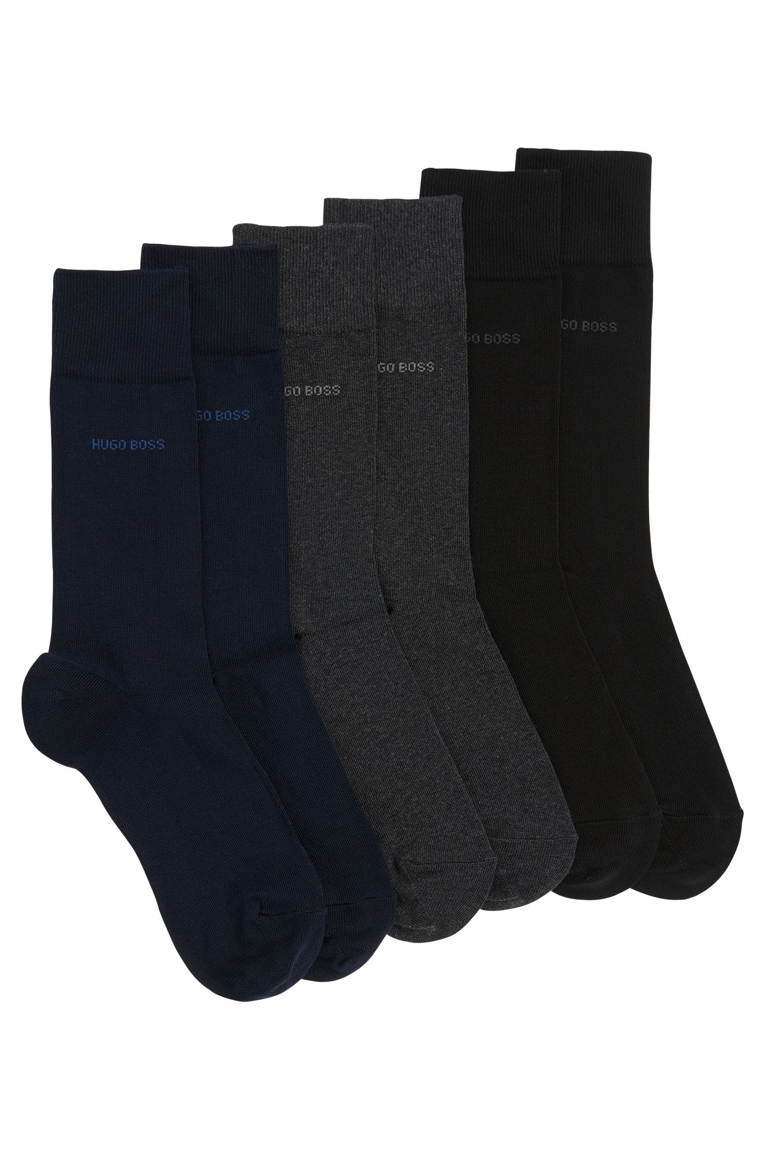 Three-pack of regular-length socks