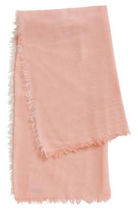 Sjaal van een scheerwolmix: 'Women-Z 444', Licht oranje