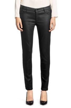 Extra Slim-Fit Jeans aus elastischem Baumwollk-Mix ´Georgina`, Schwarz