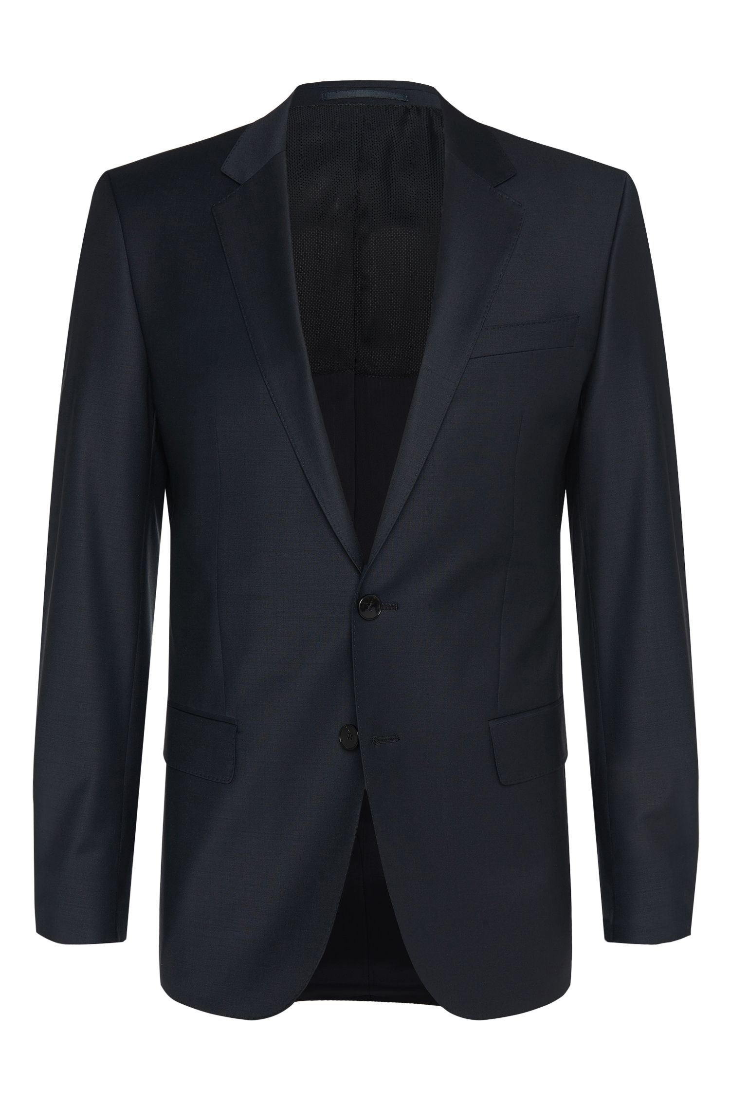 Slim fit jacket in stretch new wool blend: 'Hayes_cyl'