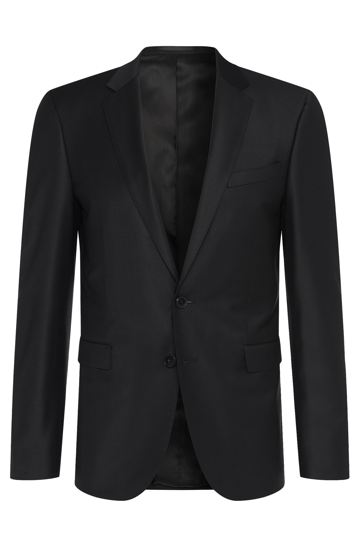 Extra-slim-fit jacket in stretch new-wool blend: 'Ryan_cyl'