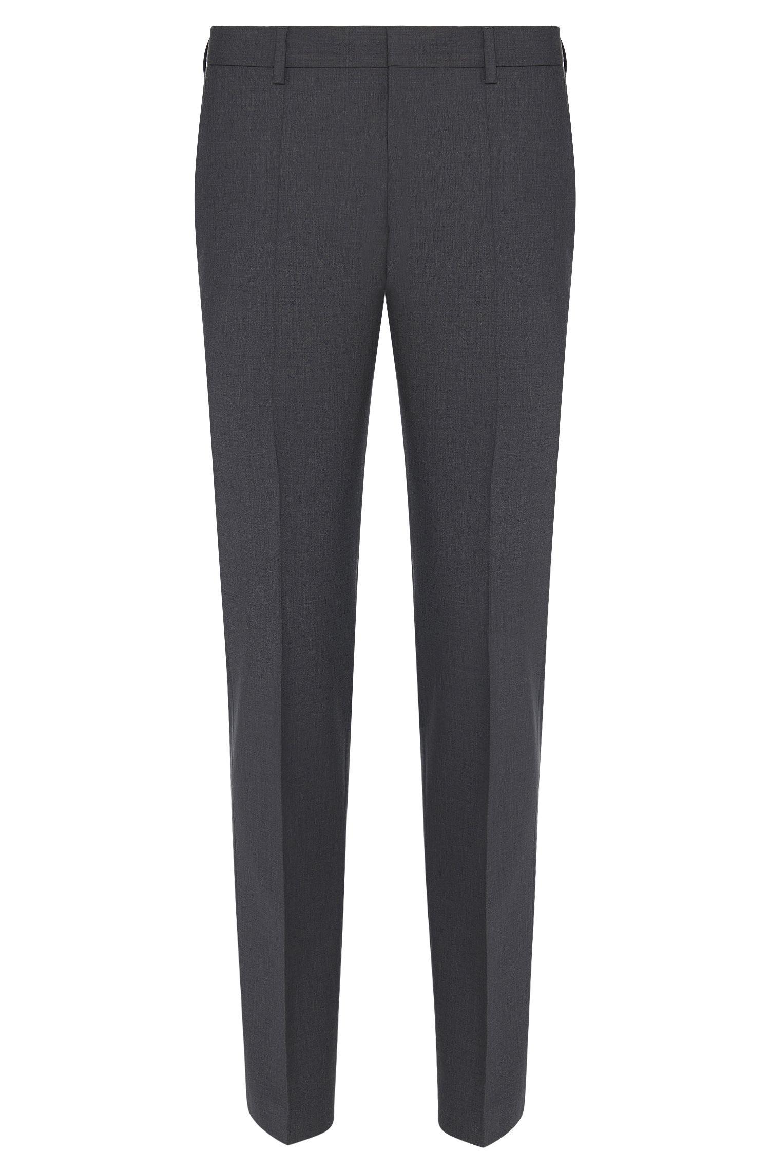 Pantalon Slim Fit légèrement chiné en laine vierge mélangée: «Gibson_cyl»