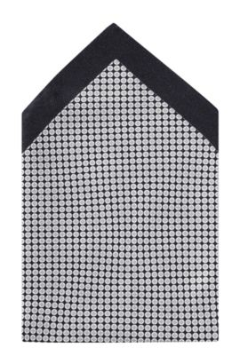 Pochette «Pocket square 33x33» en soie, Noir