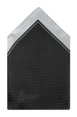 Pochet 'Pocket square 33x33' van zijde, Zwart
