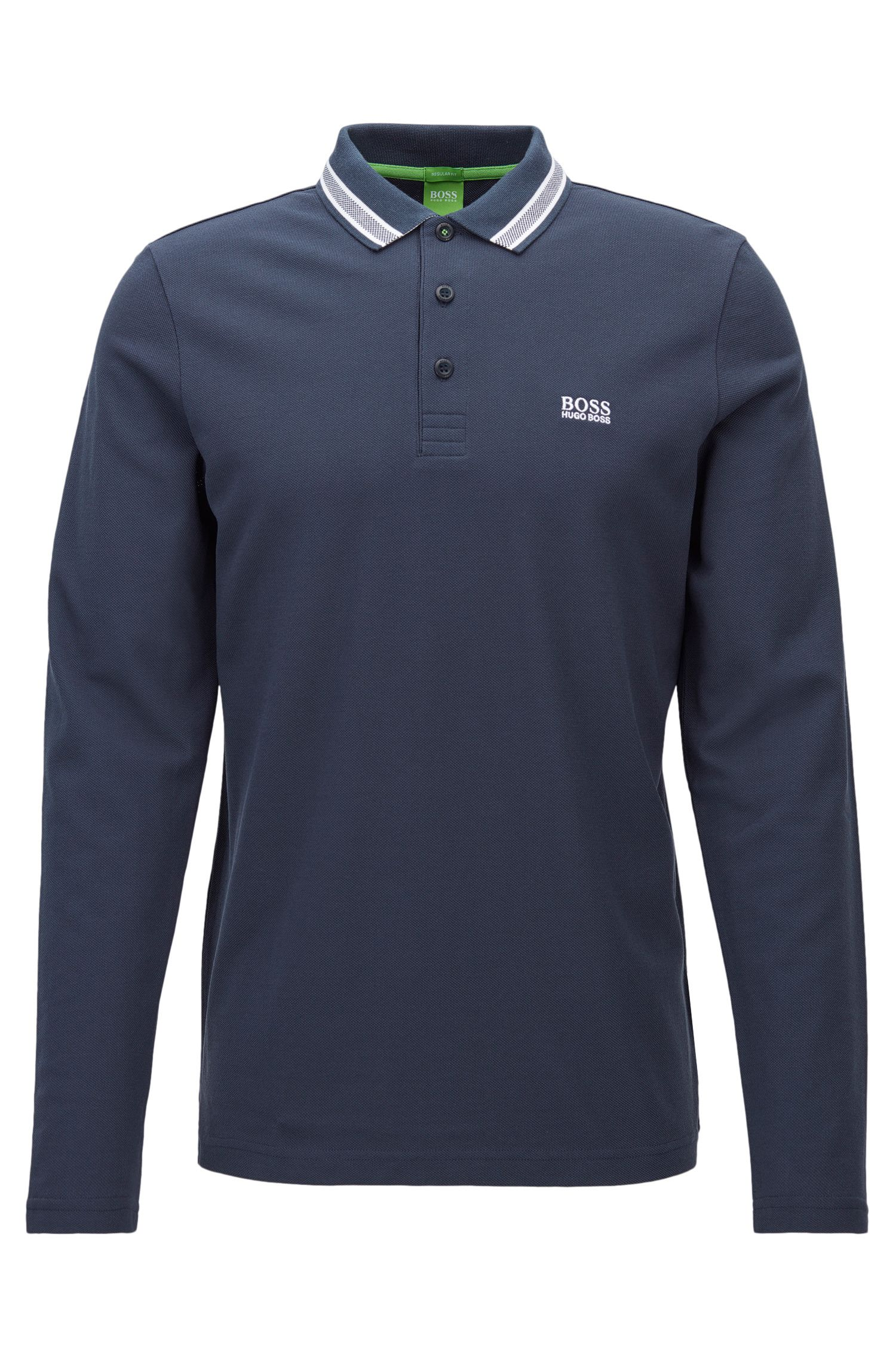 Regular-fit polo shirt in cotton piqué