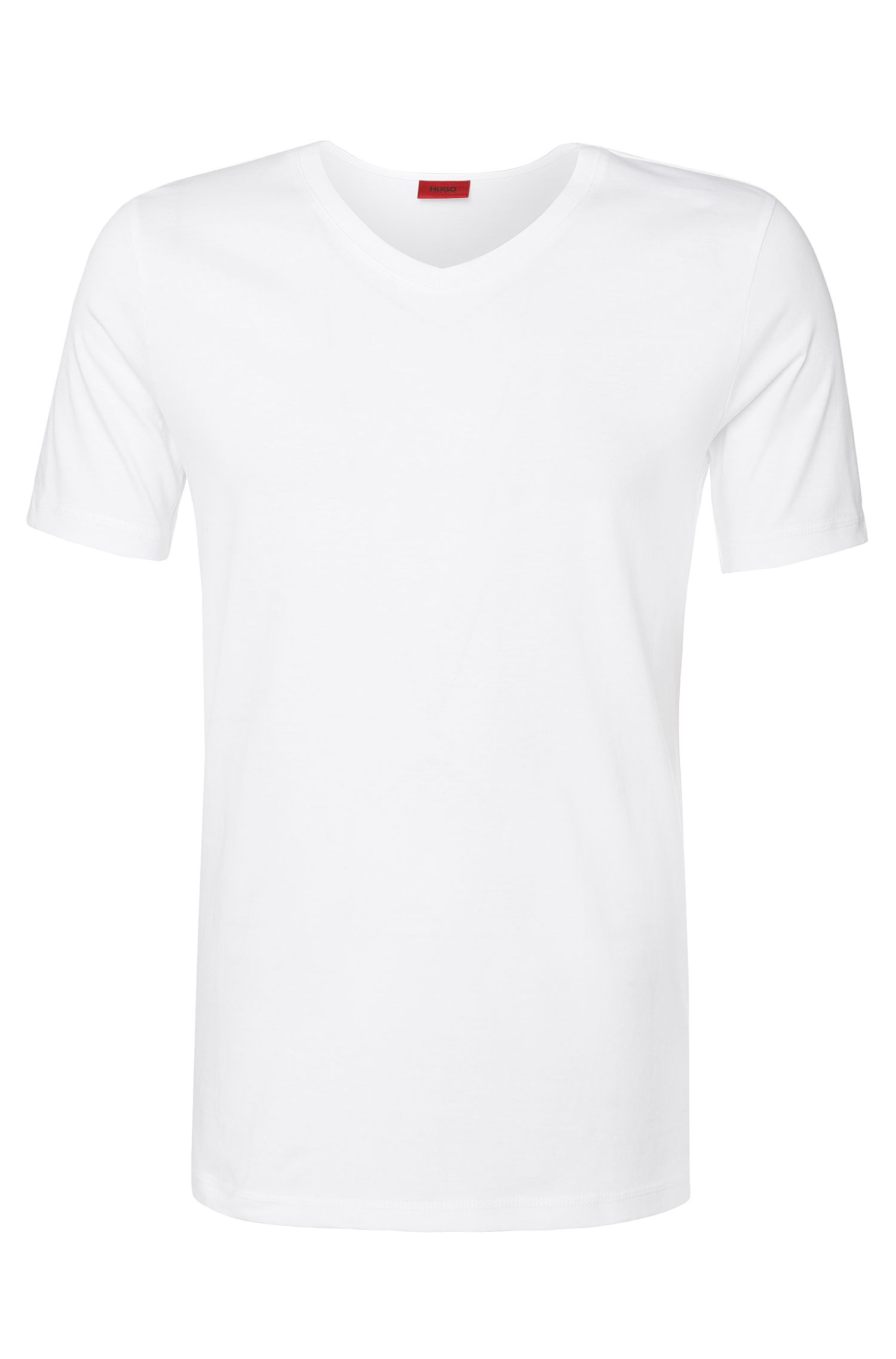 Plain slim-fit t-shirt in cotton: 'Danny'