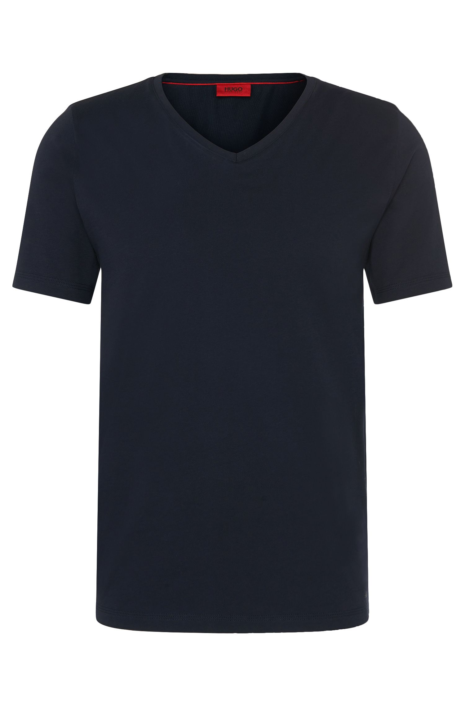 Unifarbenes Slim-Fit T-Shirt aus Baumwolle: 'Danny'