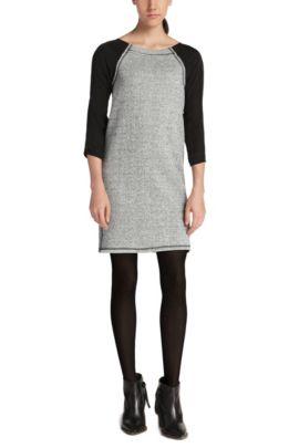 Jersey-Kleid aus Baumwoll-Mix: ´Atiffany` , Grau