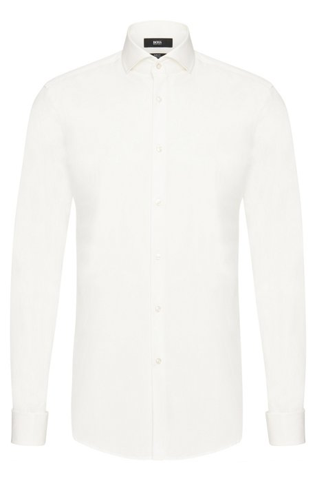 Sale Amazon White Jaiden Slim-fit Cotton Shirt HUGO BOSS The Cheapest For Sale Free Shipping Geniue Stockist NHtEtmBs