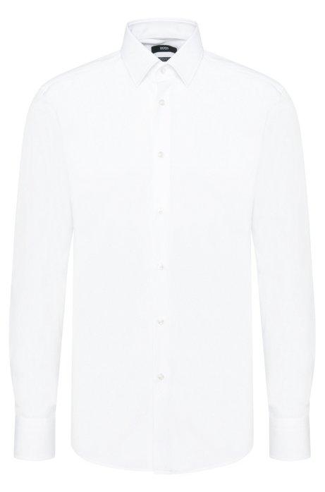 5522669da Plain regular-fit shirt in cotton: 'Enzo', White