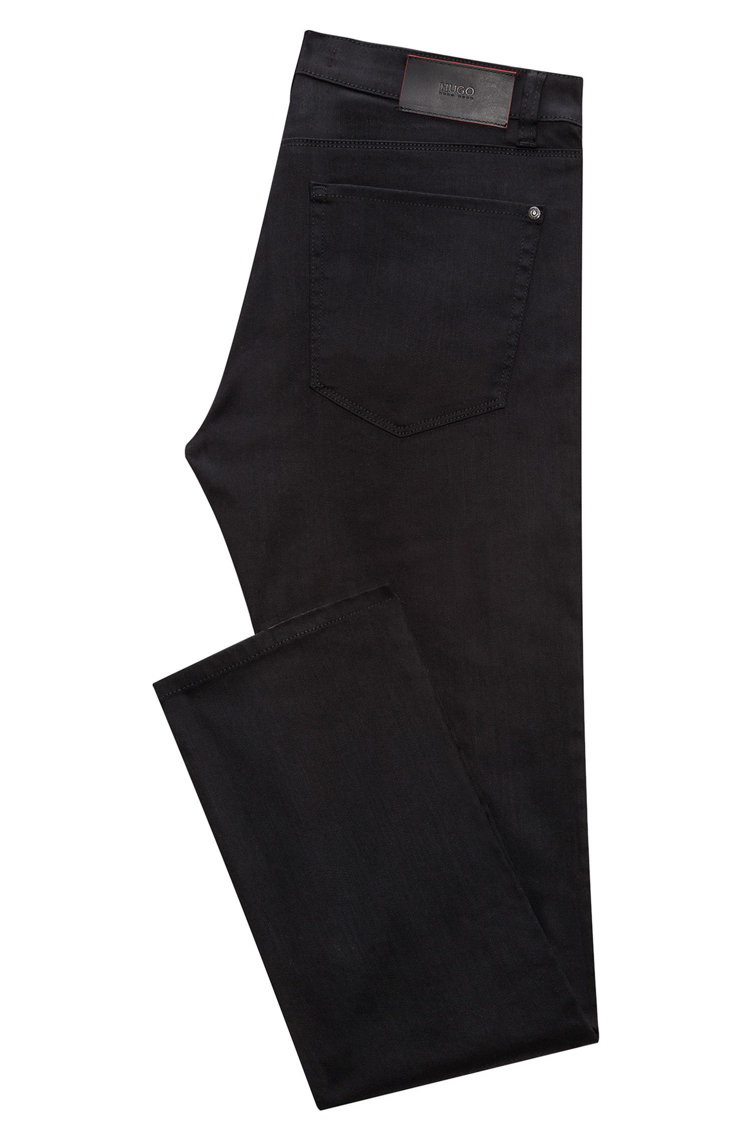 Slim-fit jeans in stay black-denim van HUGO Man, Zwart