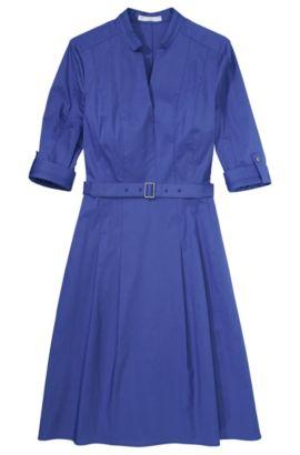 Robe-chemise «Dunila» en coton mélangé, Bleu