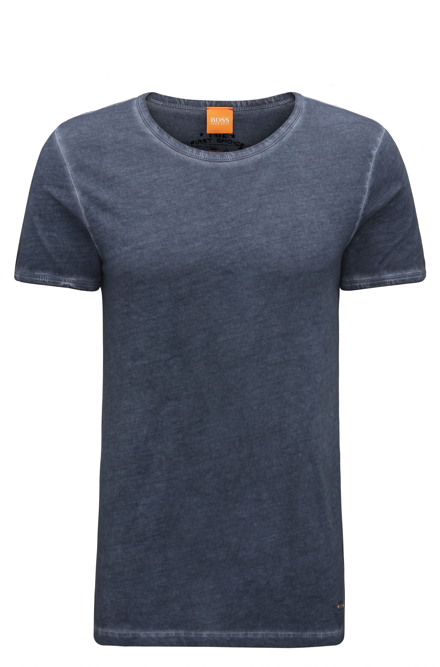 T-shirt regular fit in cotone tinto in capo BOSS Orange