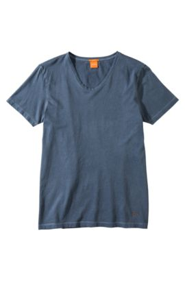 T-Shirt ´Taxer` mit Rundhals-Ausschnitt, Dunkelblau
