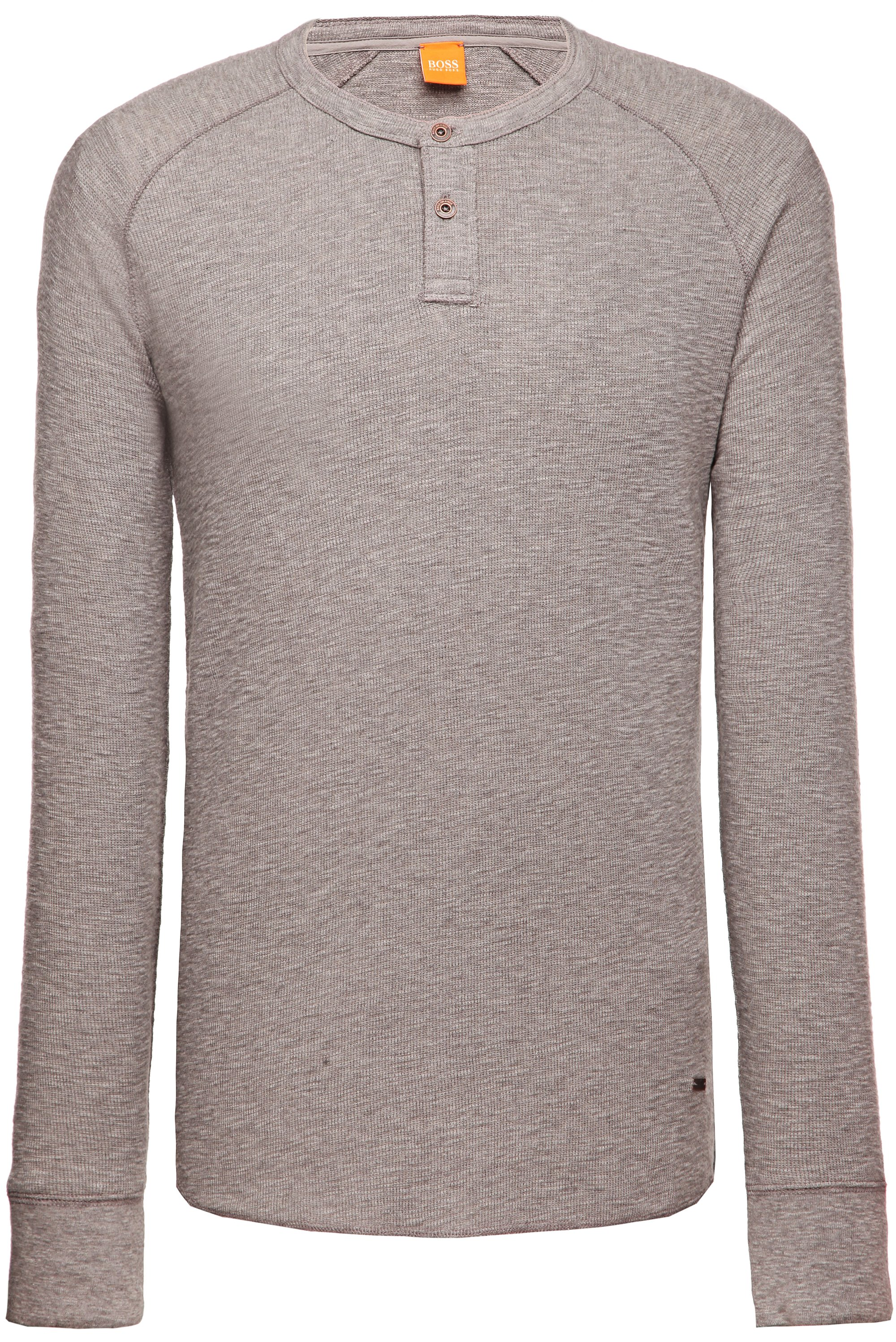 Cotton long-sleeve shirt 'Trucker 1', Light Grey