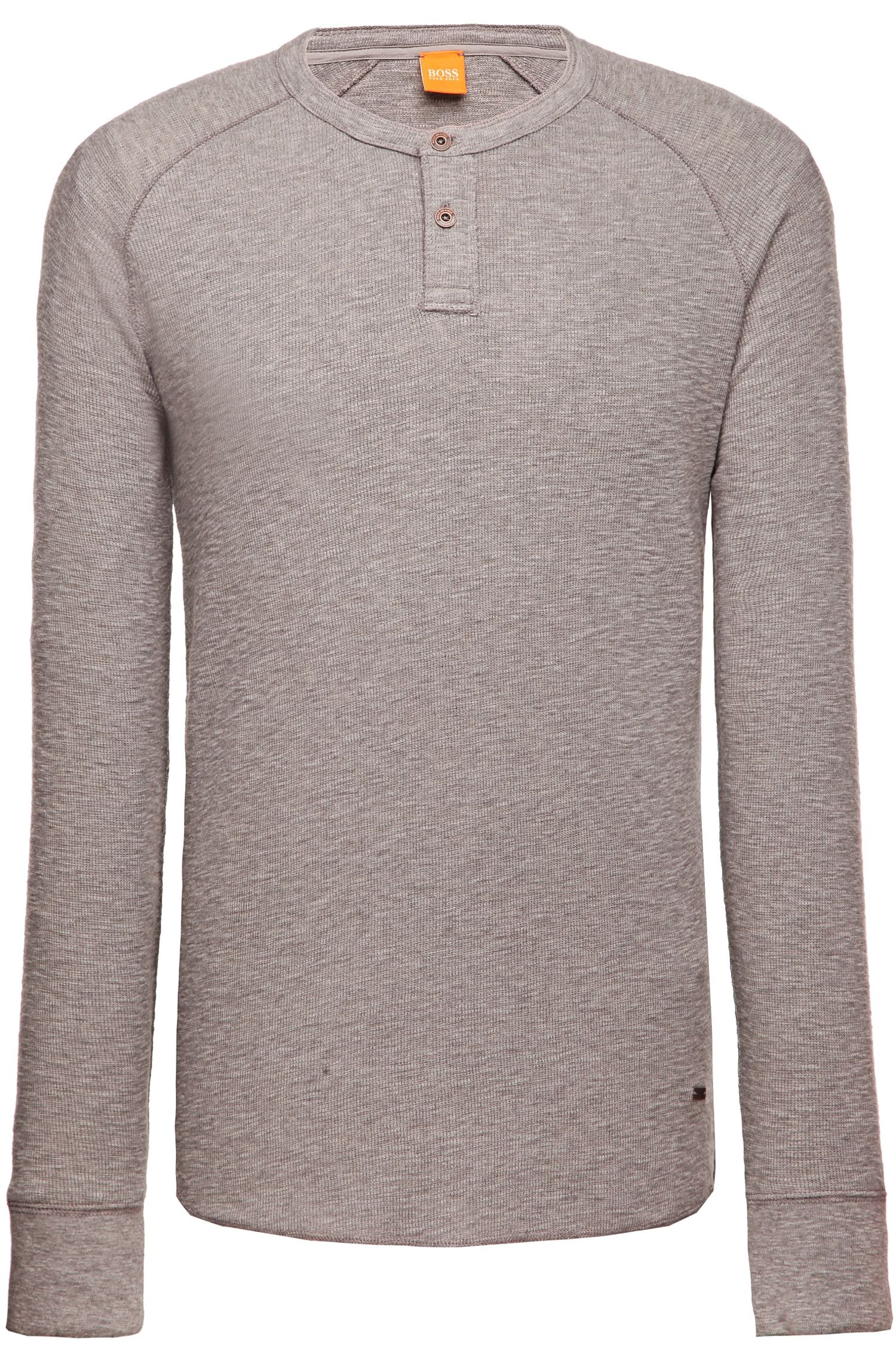Langarmshirt ´Trucker 1` aus Baumwolle, Hellgrau