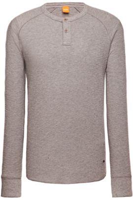 Cotton long-sleeve shirt 'Trucker 1', Light Grey