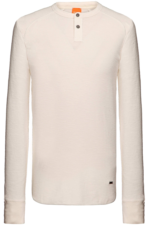 Shirt met lange mouwen 'Trucker 1' van katoen, Naturel