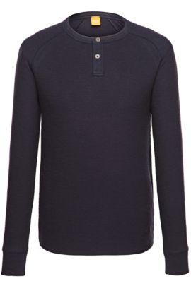 Langarmshirt ´Trucker 1` aus Baumwolle, Dunkelblau
