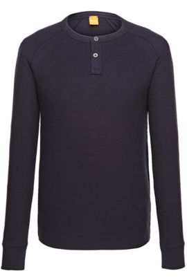 Cotton long-sleeve shirt 'Trucker 1', Dark Blue