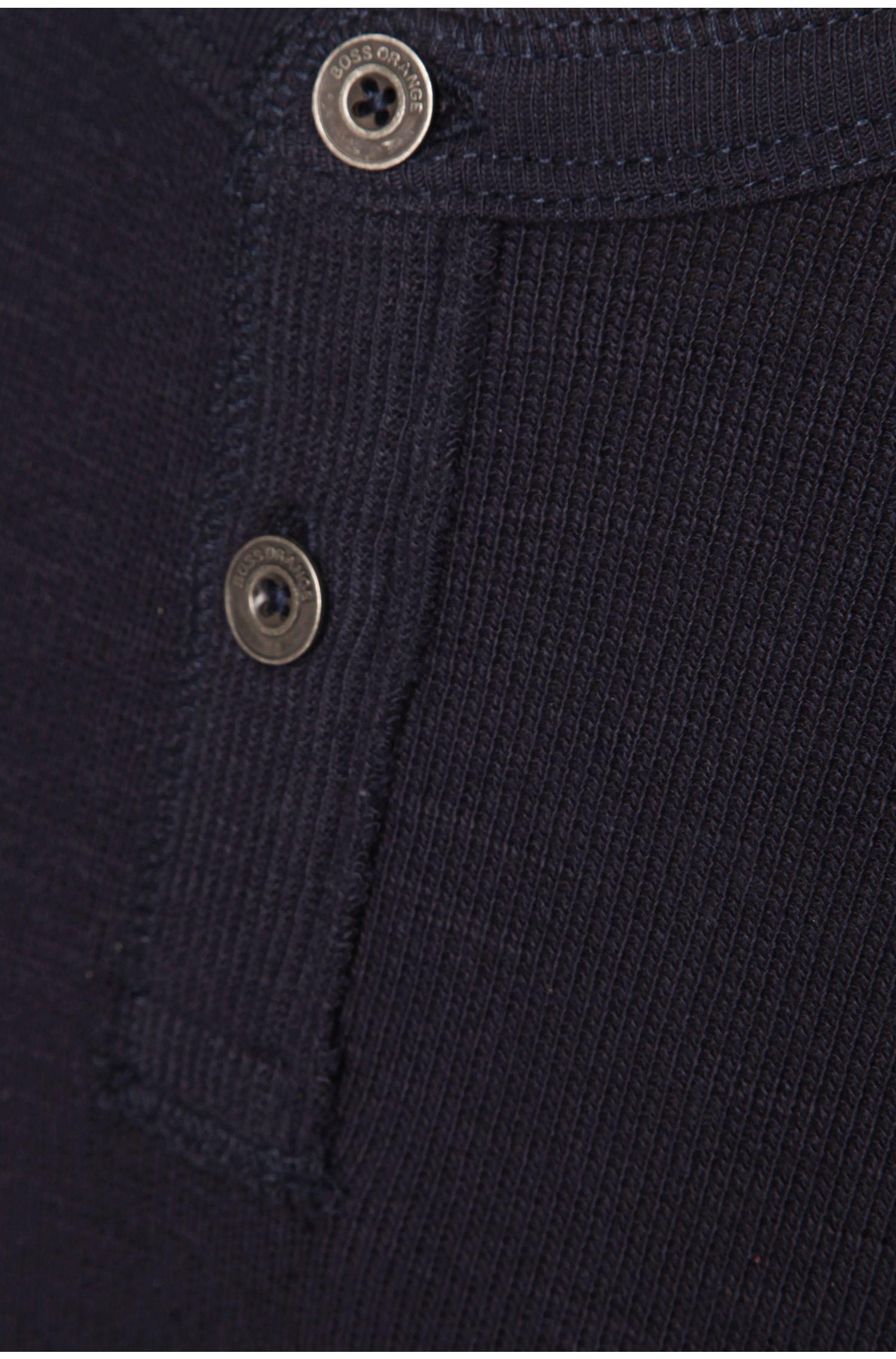 T-shirt à manches longues«Trucker1» en coton, Bleu foncé