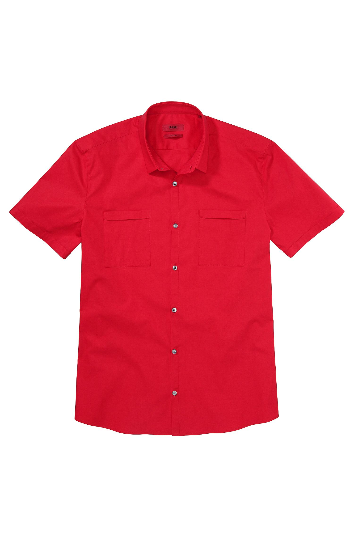 Slim-fit overhemd met korte mouwen 'Ettino' van een katoenmix